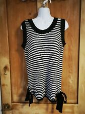 Next New Tank Top Knitted Black White Size 14 New With Tags jumper