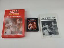 Math Gran Prix (Atari 2600, 1987) Box with Cartridge & Manual Tested Works