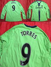 Fernando TORRES #9 CHELSEA third LONG SLEEVE shirt jersey ADIDAS 2010-11 SIZE L