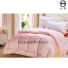100% White Fiber Quilt Comforter Polyester Blanket Duvet Filling  Cotton Cover