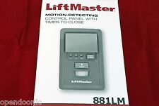 881LM LiftMaster Motion Detecting Control Security+2.0 for Chamberlain Craftsman