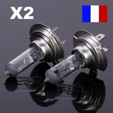 LOT 2 AMPOULES HALOGENE H7 12V 55W AUTO VOITURE PHARES LUMIERE ULTRA BLANCHE