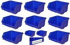 192x Stapelboxen blau Größe 1 Lagerboxen Sichtlagerkästen Sichtbox Sichtlagerbox