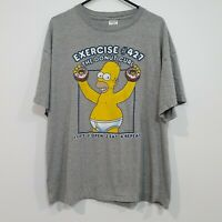 Vintage The Simpsons Homer Donut Curl Graphic Tee (2002) Size XL