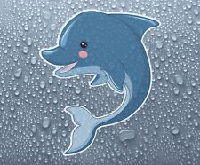Cute baby Dolphin - colour printed vinyl sticker decal - PRNT1029