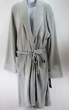 Ralph Lauren Hartford Lounge Short Shawl Collar Robe Grey Womens L Large
