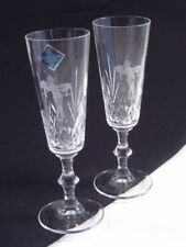 Champagne Glass Etched Crystal Glass
