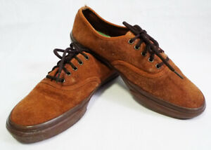Vans Off The Wall Brown Suede Gumsole Lace-Up Sneakers size 8 (TB6Q)