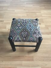 Lovely Multi Coloured Persian/Brown Wooden Footstool *CUTE & RARE*