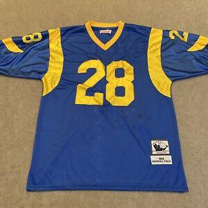 Marshall Faulk #28 Mitchell Ness Throwbacks Los Angeles Rams Jersey Size 50 (XL)