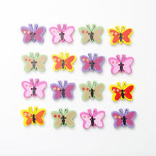 BULK WHOLESALE 50 WOODEN BUTTERFLY BUTTONS CARD MAKING CRAFT EMBELLISHMENTS