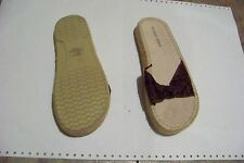 womens sweet 5-5-4 brown fabric sandals shoes size 7