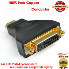 HDMI to DVI Adapter w/Gold Plated Connector (Male to Female)