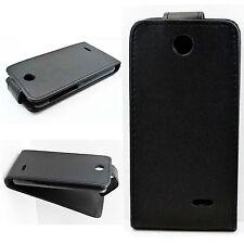 Black Magnetic Ultra Slim Leather Vertical Flip Case Case Cover For Cell Phones