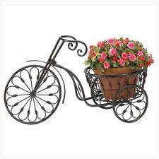 Home Garden Decor Nostalgic Tricycle Plant Display Planter Metal