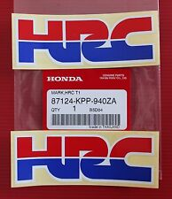 2 x GENUINE HONDA HRC STICKERS DECALS - CBR NSR 250 400 600 900 1000