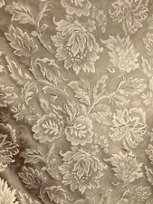 TAUPE BROWN FLORAL UPHOLSTERY DRAPERY BROCADE FABRIC (60 in.) Sold By The Yard