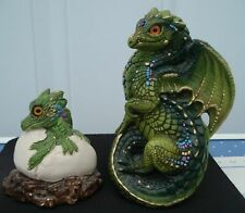 2 Windstone Editions Green Dragons Young and Hatchling Pena