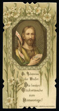antico santino cromo-holy card S.GIOVANNI BATTISTA