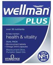 Vitabiotics Wellman Plus Omega 3/ 6/ 9 - 56 Tablets Men's Multi Vitamins, UK**