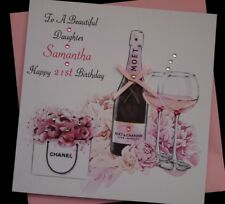 Handmade Personalised Birthday Card Daughter Granddaughter Niece 21st  18th 30th