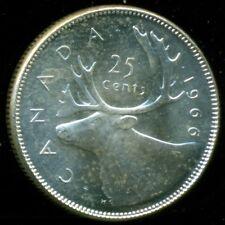 1966 Canada Silver 25 Cent Piece, Queen Elizabeth II