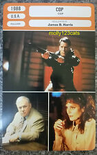 US American Police Movie Cop James Woods French Film Trade Card
