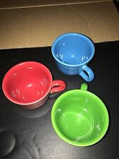 Three Fiesta Coffee Mugs