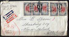 NEDERLAND; Censuurbrief vanuit PELLA, Iowa, Verenigde staten 29 april 1941