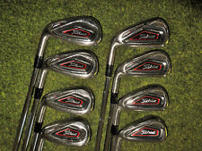 LEFT HAND TITLEIST GOLF CLUBS  AP1 716 IRON  SET 4-GW  WITH STIFF  FLEX SHAFTS