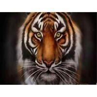 5D Full Drill Diamond Painting Tiger Cross Stitch Kits Arts Decor Gifts