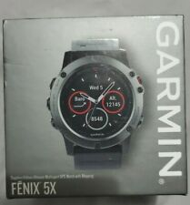 Garmin Fenix 5X Gps Sport Watch - Slate Gray Sapphire/Black