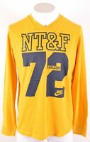 NIKE Mens Graphic Top Long Sleeve XL Yellow Cotton  EW19