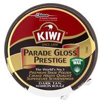 Kiwi Dark Tan Parade Gloss Shoe Polish High Gloss Brown Boot  Army Cadet
