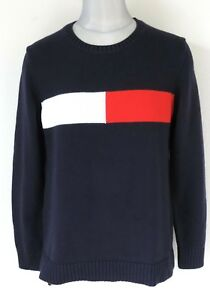 Tommy Hilfiger Women's Logo Colorblock Pullover Sweater Size: M