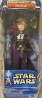 "STAR WARS ATTACK OF THE CLONES ZAM WESELL ACTION FIGURE 12"" NIB HASBRO 2002"