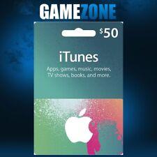 iTunes Gift Card $50 USD USA Apple iTunes Code 50 Dollars United States Digital
