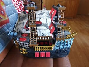 Fisher-Price 2006 Toy Imaginext Black & Red Crossbones Sails Pirate Ship Retired