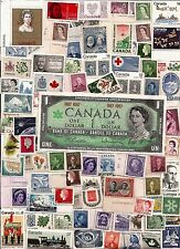 CANADA dollar bill + MNH Canadian postage stamps Royals QE II King George VI C84