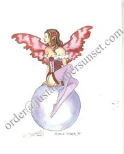 Amy Brown Print Fairy Faery Bubble Rider V Red rose corset valentines lovers new