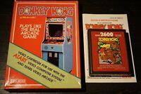 Donkey Kong (Atari 2600, 1988) Red Label Complete In Box CIB