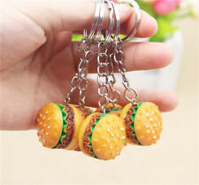 Resin Hamburger Pendant Keychain Simulation Food Keyring Promotional Gifts