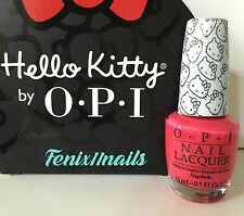 New! OPI HELLO KITTY NL H85 SPOKEN FROM THE HEART coral red nail polish color