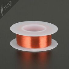 Magnet Wire, Enameled Copper, Red, 45 AWG (gauge), 155C, ~0.5oz, ~3050 ft