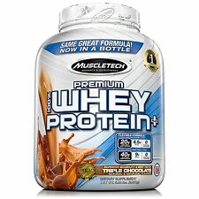 Muscle Builder Tech Premium Whey Protein 5lbs Chocolate Shake Flavor muscletech