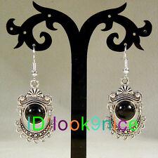 New Fashion Ethnic Tibetan Silver Black Turquoise Dangle Earrings