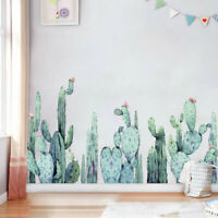 Cactus Tropical Plant Wall Border Stickers Kids Room Decal Nursery Decor Art DIY