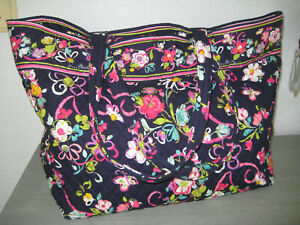 Vera Bradley Large Tote 2012 Shoulder Bag, Breast Cancer RIBBONS Pattern, NWOT