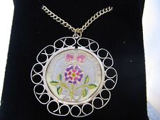 1997 Enamelled 20p Coin Pendant in coin mount. Cream/gold/colours. 21st B'day/An