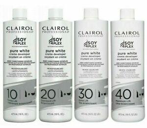 Clairol Professional Pure White Creme Developer 10,20,30 and 40 VOL 473ml/16oz